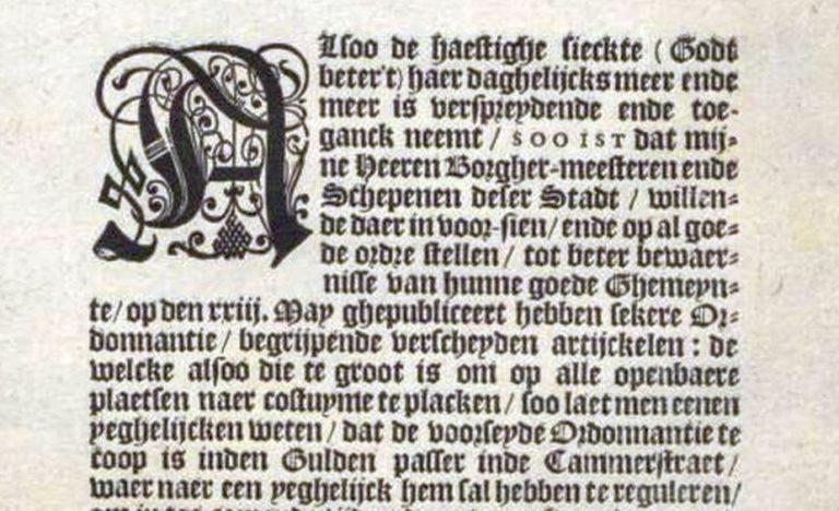Gebod 23 mei ca. 1630 Ordonnantie pest