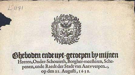 Gebod 21 augustus 1638  Verbod op varkens
