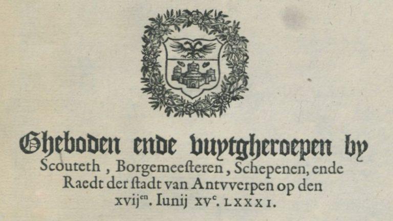 Gebod 17 juni 1581  Naaktlopen