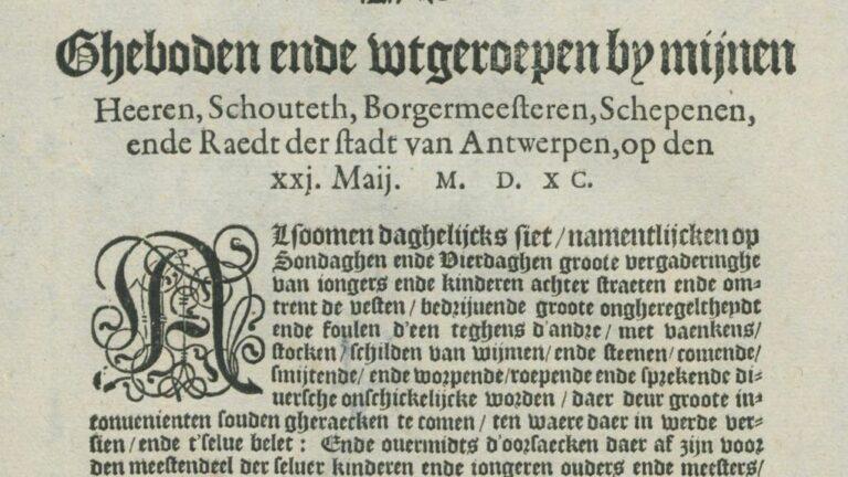 Gebod 21 mei 1590  Hangjongeren