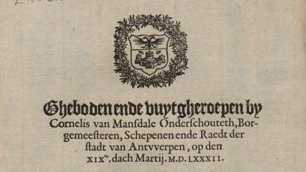 Gebod 19 maart 1582  Moordenaar Jauregui