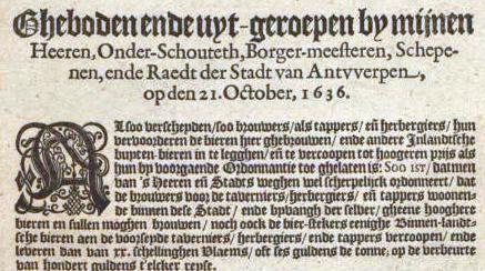 Gebod 30 augustus 1636 Hondenslagers