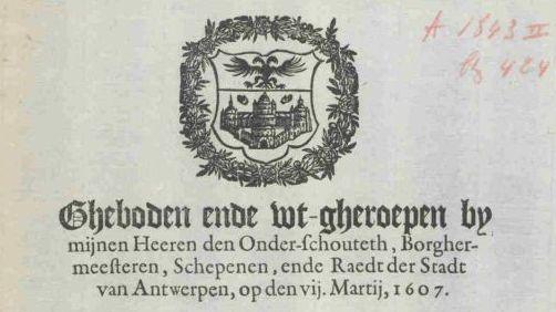 Ghebod Steen 7 maart 1607