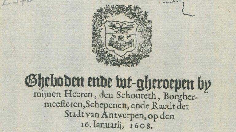 Ghebod Steen 16 januari 1608
